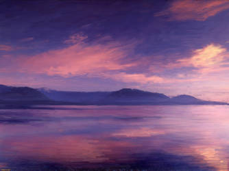 landscape at dawn by KingKajuka