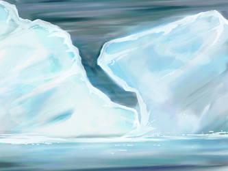 Ice mountains by KingKajuka