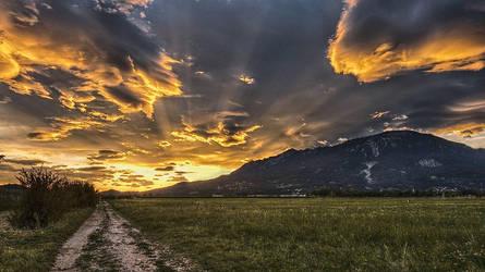 Open Sunset II by eriksimonic