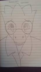 UT Sketch #15 - Nervous Alphys by TakeruDavis