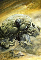 Incredible HULK: Oil on Canvas by MikeDeodatoJr