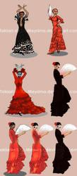 Flamenco dancers by Takiari-xXXx-Meyrimo