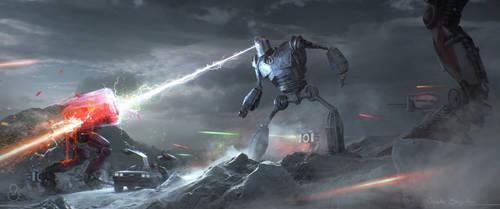 The battle begins ! by Fainernil