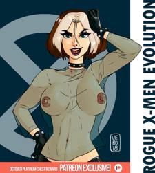 Rogue/X-Men Evolution - Patreon October T1 Reward by TheArtOfVero