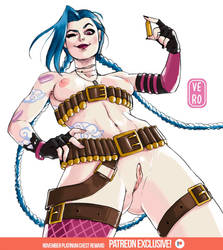 Jinx/League of Legends - November Sketch Reward by TheArtOfVero