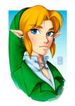 Ocarina Of Time Link Portrait by TheArtOfVero
