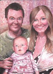 Liam, Natalie and Matilda by iggytheillustrator
