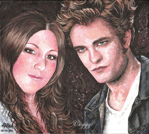 Lou and Robert Pattinson by iggytheillustrator
