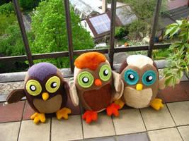 Owlsome Post messengers by chu-po-po