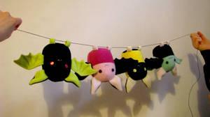 Colorful Bats by chu-po-po