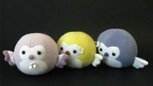Cute Pastel Owls by chu-po-po