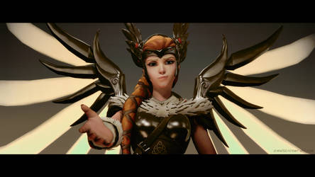 Back in the fight - Mercy Sigrun / Overwatch / SFM by LemonySenpai