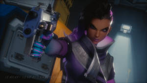 Sombra (Olivia Colomar) - Overwatch Blender Cycles by LemonySenpai