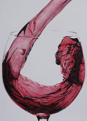 Red Wine part 2 - Bic pens by 6re9