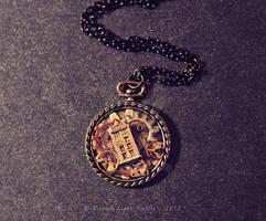 TARDIS Pocket Watch Pendant by VintageLightJewelry