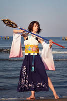 Summoner Yuna - Final Fantasy by adelhaid