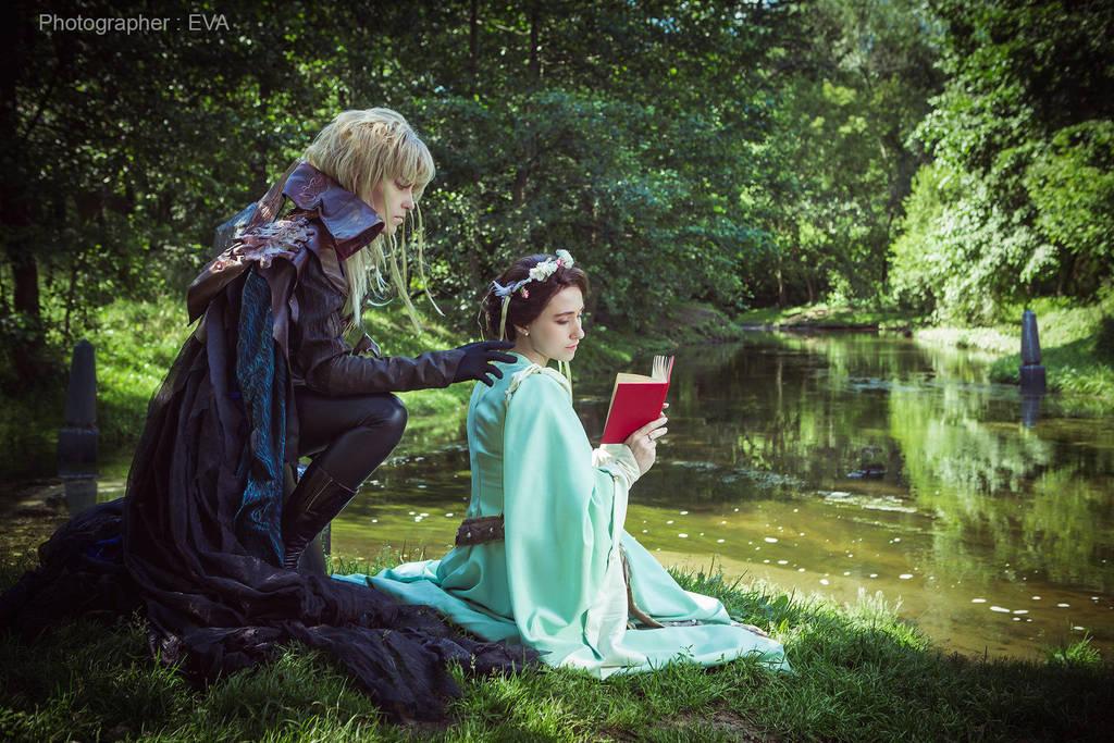 Labyrinth - Sarah and Jareth by adelhaid