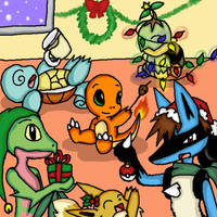 request: Pok'e Christmas by Doodlz18