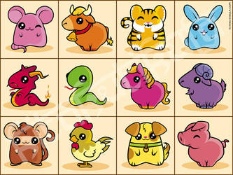 Chinese Zodiac by Kitakutikula