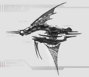 Alien Airship Concept by DireImpulse