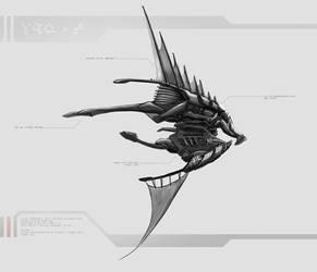 Alien Airship Concept 2 by DireImpulse