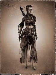 Tribal Steampunk Villain Concept: Assassin by DireImpulse