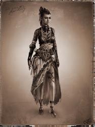 Tribal Steampunk Villain Concept: Landlady by DireImpulse
