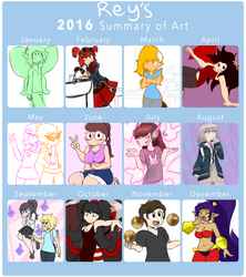 2016 Summary of Art by reyalty
