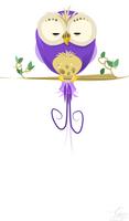 Purple Owly by dapplet