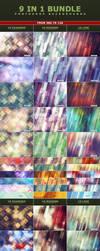 9 IN 1 Bundle Photoshop Background Textures by ViktorGjokaj