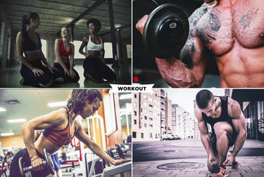 Workout Photoshop Actions by ViktorGjokaj