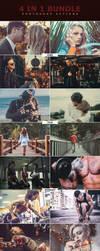4 IN 1 Bundle Photoshop Actions by ViktorGjokaj
