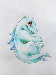 Shiny Totodile by Endivinity