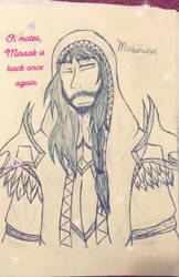 Hey look, Miraak again by AssassinArtistGirl