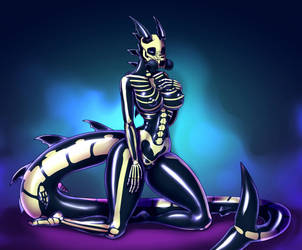 Zeig'a spooky latex suit by Erlix