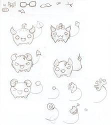 Halloween inspired cutie monster by Jigoku-Rui-chan