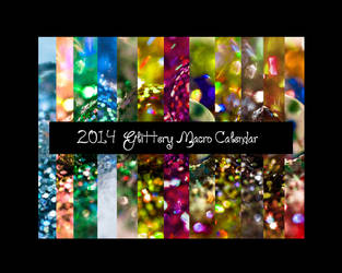 2014 Glittery Macro Calendar by jenepooh