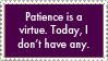 Patience Stamp by jenepooh