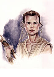 Rey in copic markers 13X9.5 inch - for sale by Bella-Rachlin