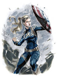 Gender Bender Captain America! by Bella-Rachlin