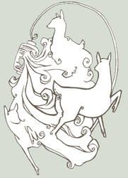 Deer of Smoke, Deer of Water by DKHutcheson