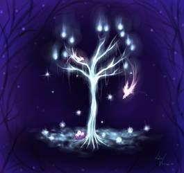 Ice tree by LotusLumino