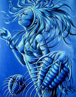 Woman with Trilobites by JacquelineRae
