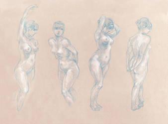 August Figure Drawing 1 by GoldenOne