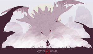 God Of War(Kratos vs Hraezlyr) by gelsgels
