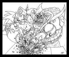Sonic vs. Robotnik: Crash by BiggySchmalz