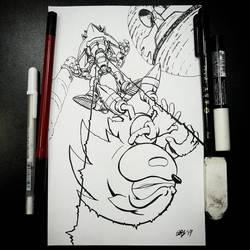 Falling (Inks) by BiggySchmalz