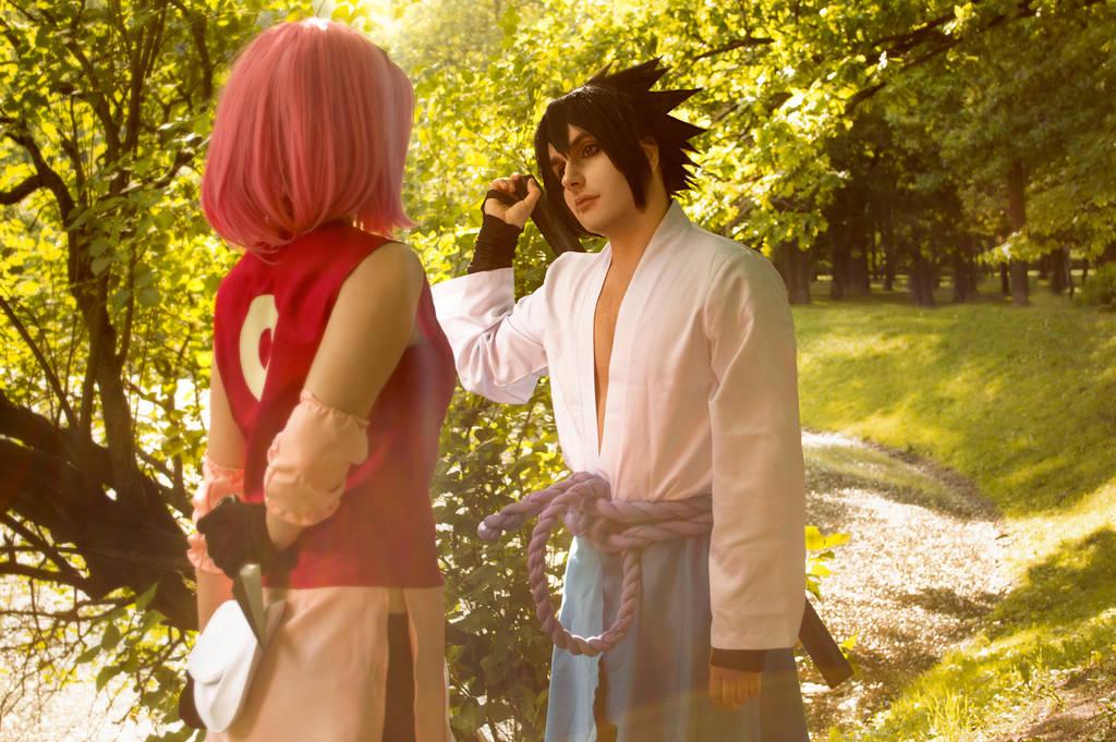 Naruto Sasuke Uchiha Sakura Haruno Cosplay By Lika Tyan On Deviantart