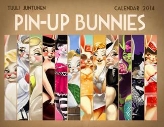 Pin-Up Bunnies Calendar 2014 by kazie