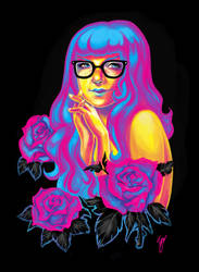 Girl made of CMYK by kazie